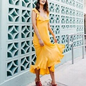 NWT Anthropologie Large Belle Ruffled Maxi Dress